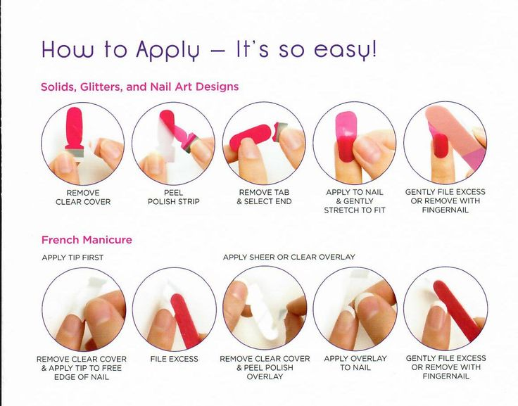 Super Easy to apply- Easy to remove Use your own Fingernail Polish Remover.