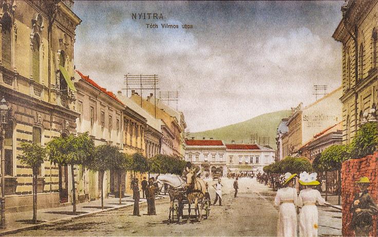 Nitra, Štefánikova trieda v roku 1917