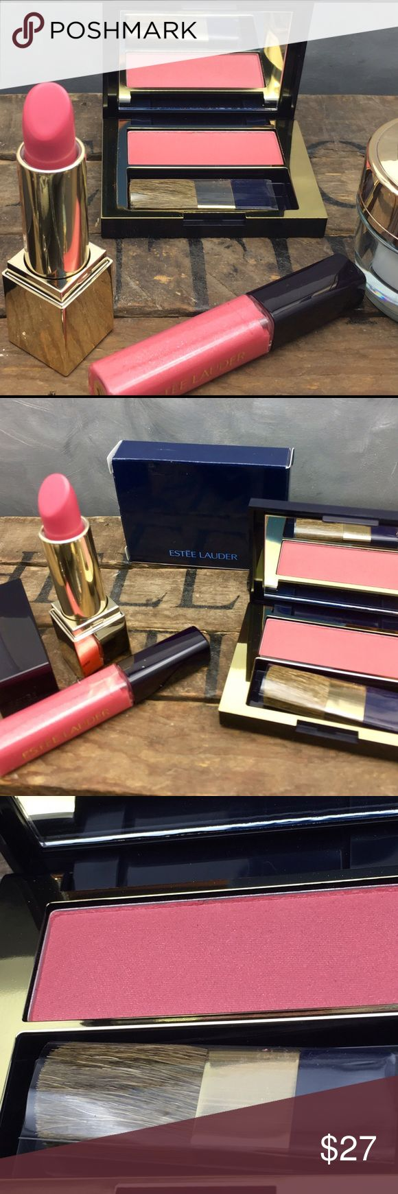 NIB Estée Lauder makeup blush lipstick and gloss Beautiful