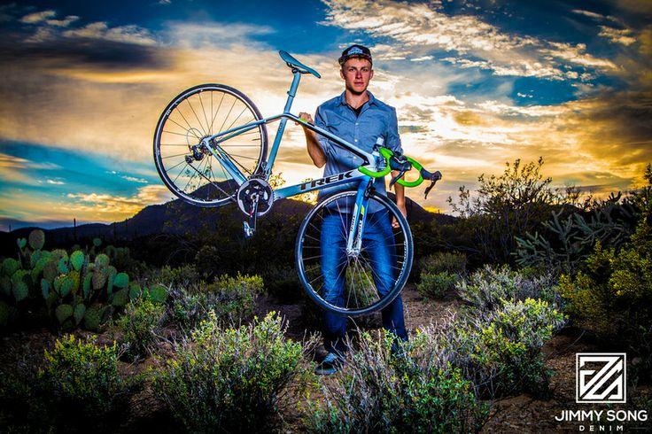 Jimmy Song Denim Photo shoot Trek Bicycle Light Tucson Arizona Outdoors Sunset Jimmy Song Photography