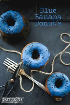 Blue Banana Chocolate Donuts
