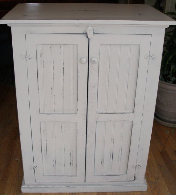 Cabinet, storage, antique white, distressed, shabby chic on Etsy, $395.00 - 28 Best Storage Ideas Images On Pinterest Storage Ideas, Shabby