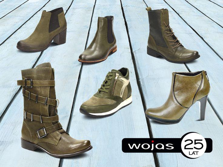 Półbuty, botki i trzewiki w kolorze khaki – zapraszamy do salonów firmowych Wojas i sklepu online na www.wojas.pl!