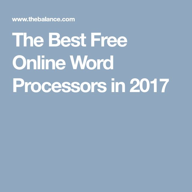 The Best Free Online Word Processors in 2017