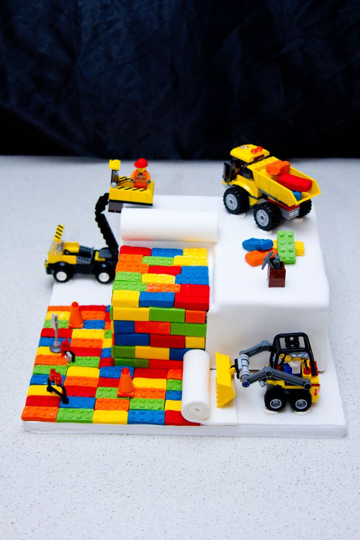 Novelty Lego Cake - Chocolate Mud Cake Flavor Has Dakota favorite things LEGOs