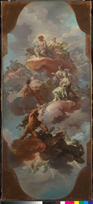 Apothéose de la monarchie (?) espagnole (?) - Giaquinto Corrado (1703-1765)