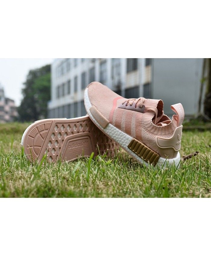 Cheap Adidas NMD R1 Gold Pink White Shoe Womens | Adidas nmd