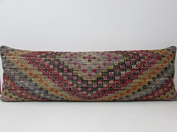 16x48 kilim pillow lumbar king size pillowcases large kilim rug large sofa pillow king euro pillow pillow shams king long pillow case 207