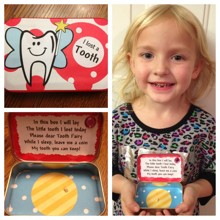 Tooth Fairy box made with an Altoid container!