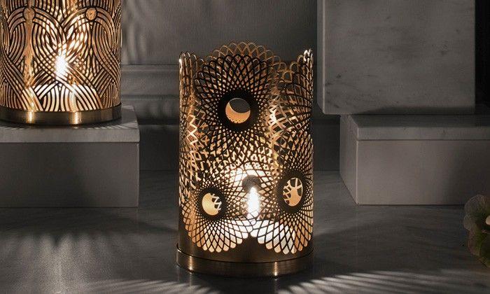 Photophore en laiton ou cuivre Feather design Lara Bohinc-Skultuna