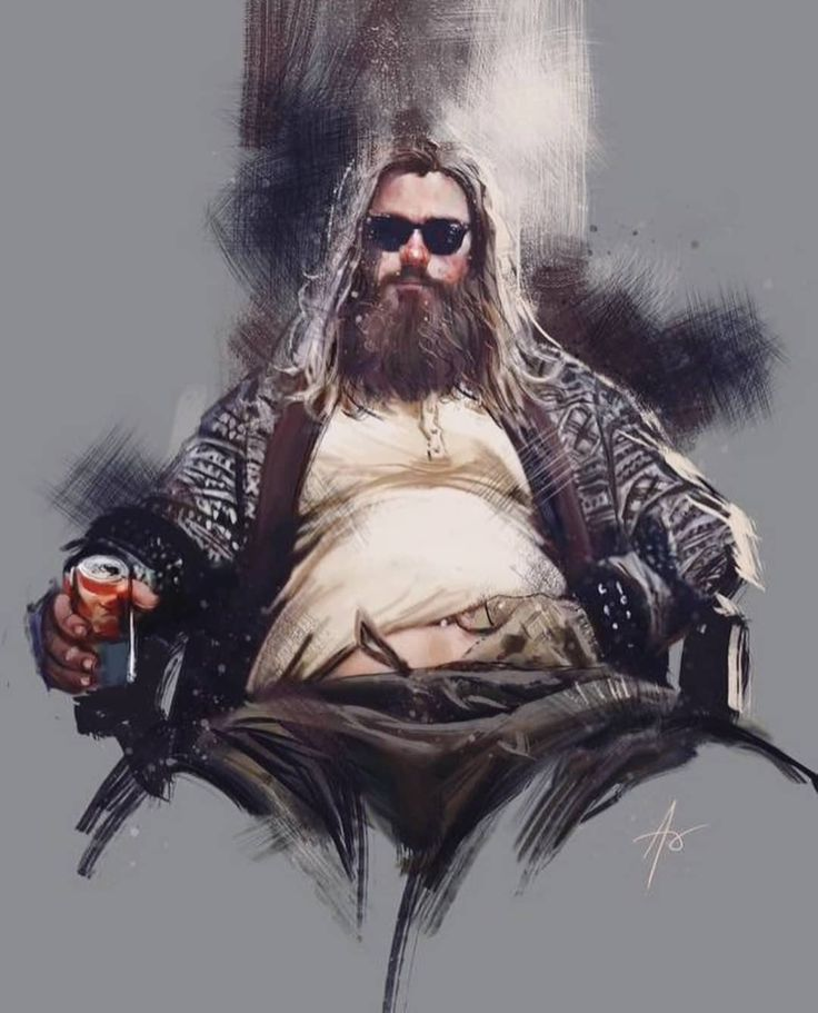 THE GOD OF BEER… art by Rudy Ao …..#thor#fatthor#endgamethor…..FOLLOW @com…