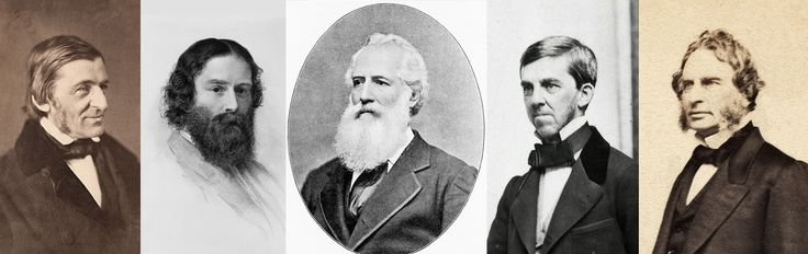 Images of five of the original eight founders of <em>The Atlantic</em>, most of them made close to the year of its founding: 1857. From left, Ralph Waldo Emerson (ca 1856); James Russell Lowell (1855); Francis H. Underwood (undated); Oliver Wendell Holmes, Sr. (ca 1860); and Henry Wadsworth Longfellow (ca 1860). Lowell served as the magazine's first editor and Underwood was its first associate editor. The other men were writers who, along with publisher Moses Dresser Phillips and other…