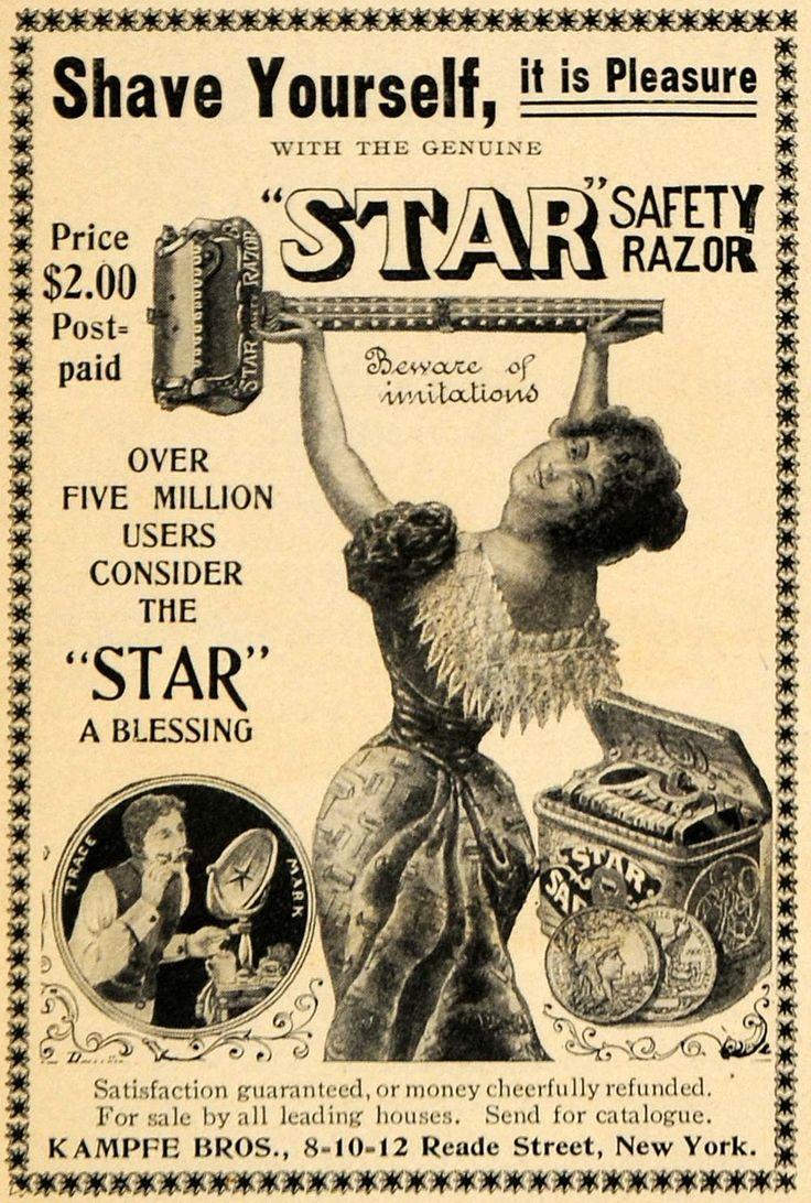 1901 Ad Kampfe Bros. Star Safety Razor Shaving Pleasure ...