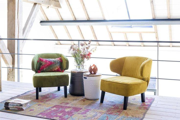 Henders & Hazel stoelen Jarnac geel en groen - vraag gratis woonboek 2016 aan