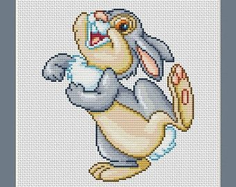 Bunny Rabbit Thumper From Disney Bambi Cross Stitch Pattern in PDF for Instant Download