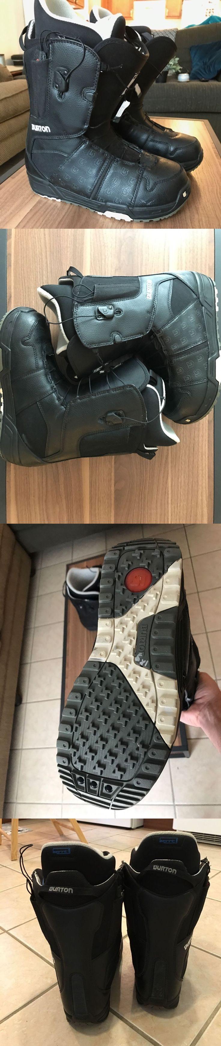 Bindings 21248: Burton Moto Men S Snowboard Boots Size 10 Snowboarding Gear Snow Boots -> BUY IT NOW ONLY: $65 on eBay!