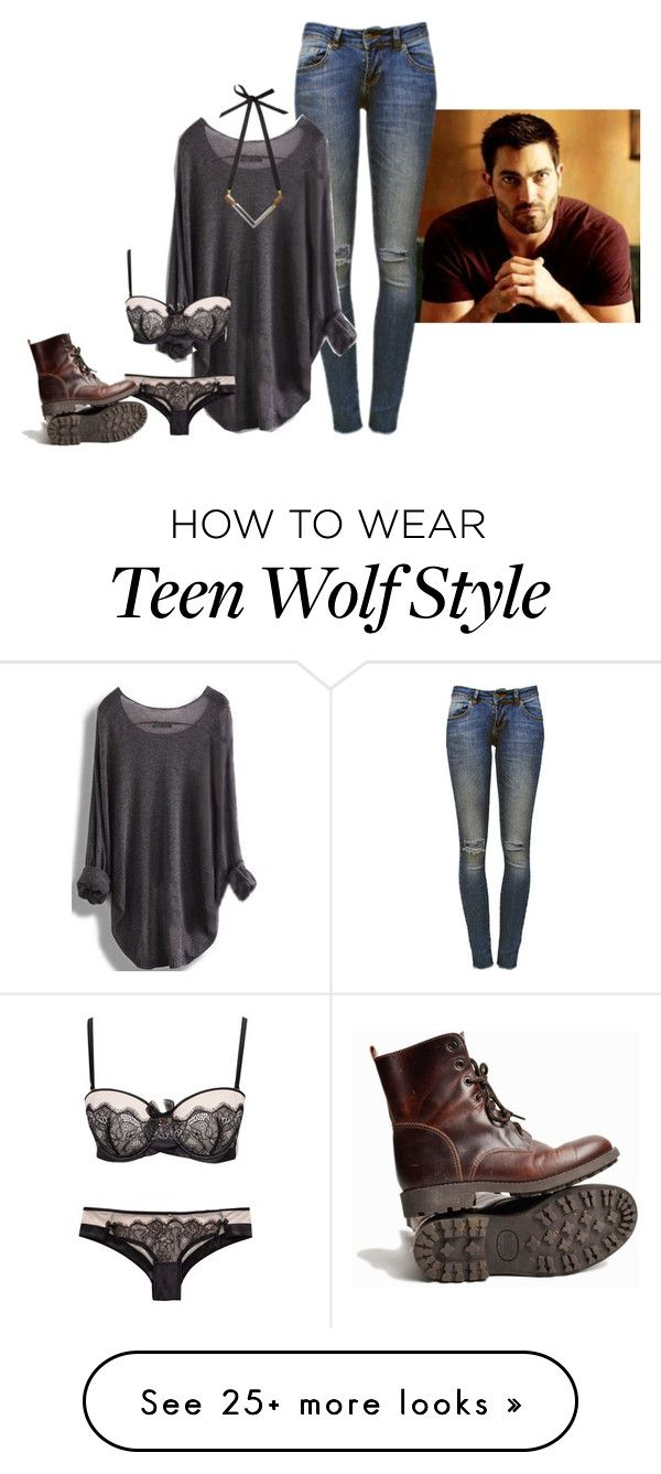 """Watching you get dressed messes with my head..."" by madihearts19 on Polyvore featuring Anine Bing, Hunkemöller and Wolf & Moon"