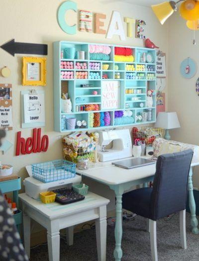Ideas para cuartos de costura | Ideas varias | Sewing room design ...