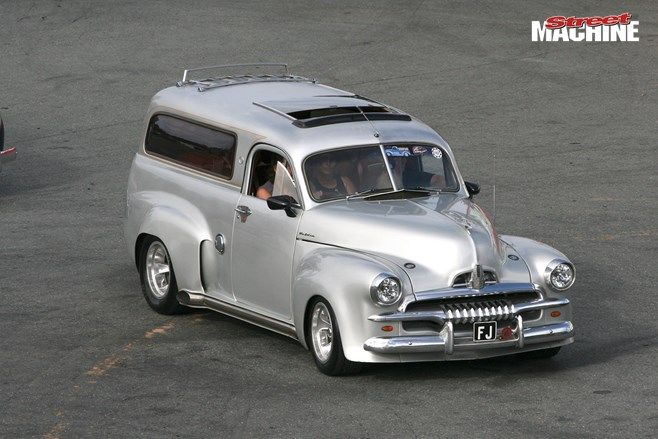 ◆ Visit MACHINE Shop Café... ◆ ~ Aussie Custom Cars & Bikes ~ (Wild 1954 FJ Holden Panel Van)