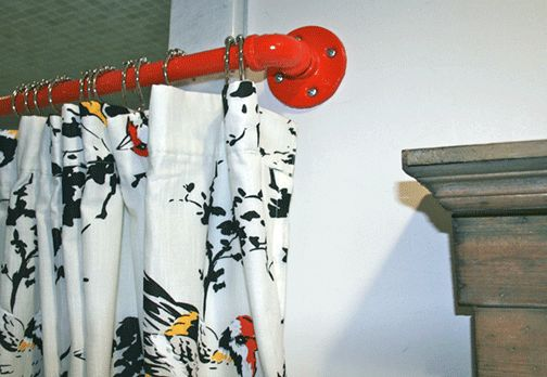 63 best images about pipe curtain rods on pinterest curtain rods double shower curtain and. Black Bedroom Furniture Sets. Home Design Ideas