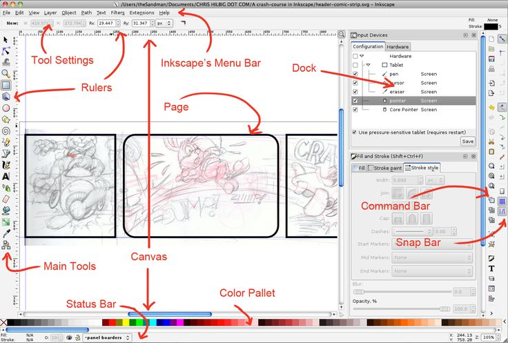Inkscape 39 S Interface Overview This Looks Like A Great