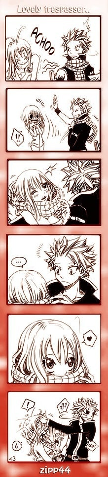 Fairy Tail, Natsu and Lucy ~ dammit natsu this time youdidnt even need happy to ruin the moment