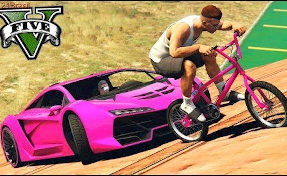 GTA V Online: BMX vs SUPER CARROS - A MAIS FRENÉTICA!!!