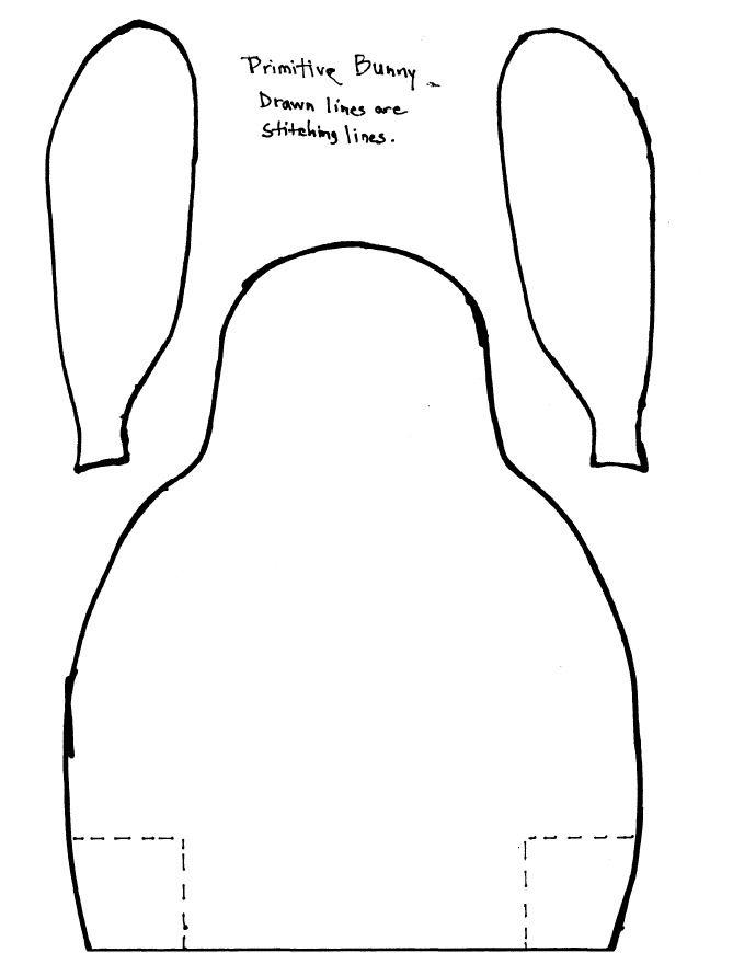 Libbie's Home: Primitive Bunny Pattern