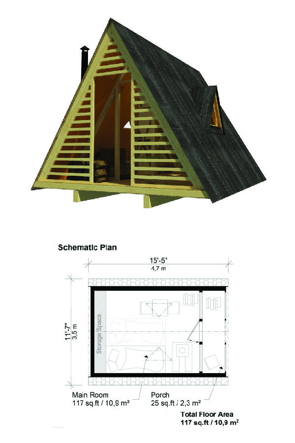 A Frame Shed Plans A Frame House Tiny House Floor Plans Vintage House Plans