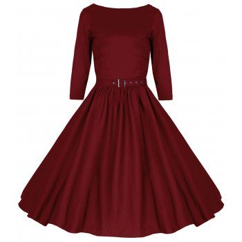 Holly Red Swing Dress | Vintage Inspired Fashion - Lindy Bop