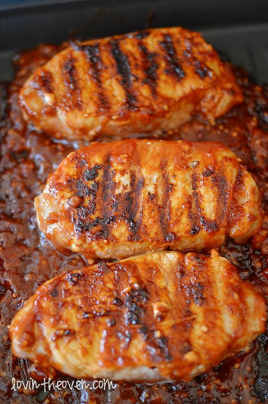 Honey Garlic Porkchops - Lovin' From The Oven  Made for dinner tonight. Was the bomb. I pan fried chops then added sauce in skillet and simmered.
