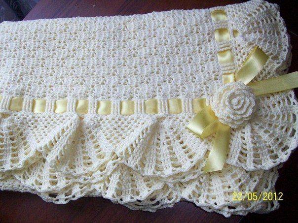 VARIOS MODELOS DE MANTAS A CROCHET PARA BEBES CON PATRONES | Patrones Crochet…