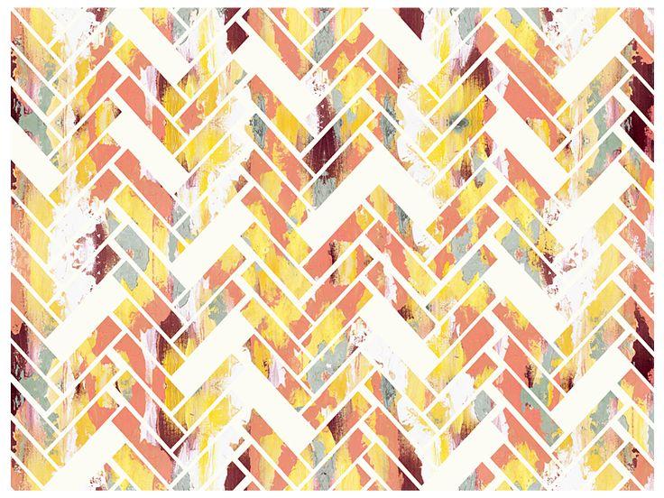 Wild Herringbone - Colorful Abstract Geometric Art