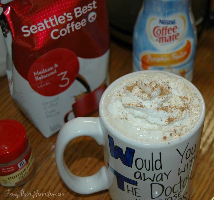 Homemade Pumpkin Spice Latte - BusyBeingJennifer.com #shop