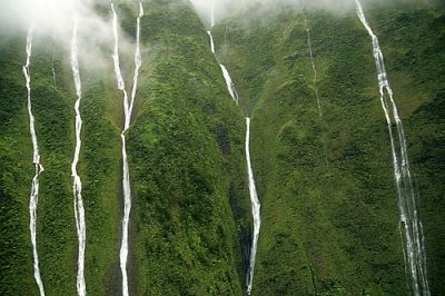 The weeping wall in Kauai