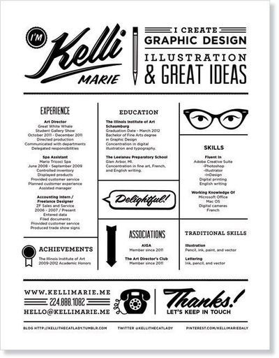 Awesome resume layout geared towards profession.