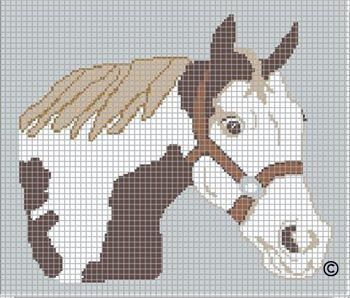 Free Filet Crochet Horse Pattern, Free Filet Crochet Patterns