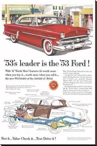 Stretched Canvas Print: Ford 1953 Leader is the Ford : 44x29in