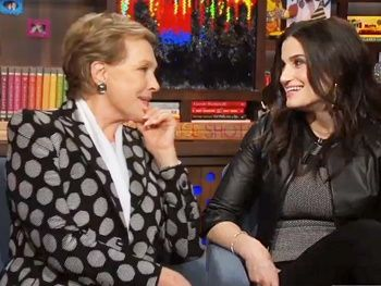 OMG: Idina Menzel & Julie Andrews Are in the Same Room Together & Talking If/Then, Adele Dazeem, The Sound of Music & More!
