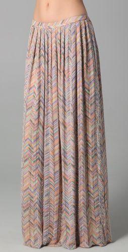Parker zigzag maxi: Parker Zigzag, White Tanks, Nudes Maxi Skirts, Skirts Thestylecur Com, Long Skirts, Prints Maxi Skirts, Zigzag Beads, Hippie Skirts, Beads Long