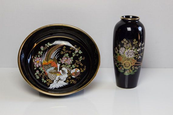 Chinese Style Vase and Plate by AnEllieCreations on Etsy