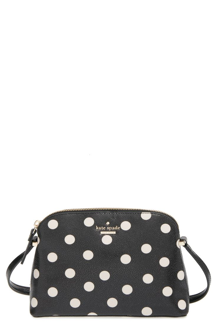 Black and white polka dots add flair to this Kate Spade crossbody.