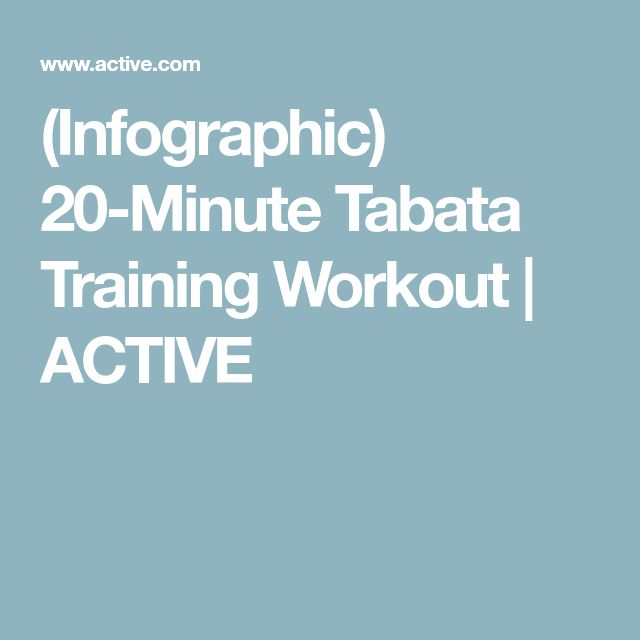 (Infographic) 20-Minute Tabata Training Workout | ACTIVE