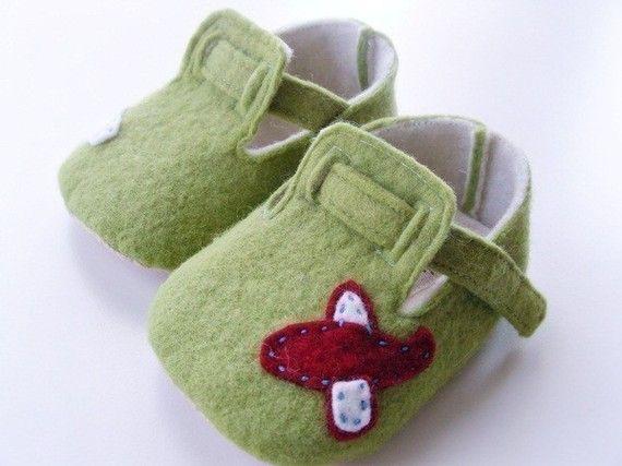 felt baby booties pattern