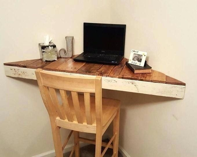 Free Plans To Build A Corner Desk In 2020 Floating Corner Desk Diy Corner Desk Floating Shelves Diy