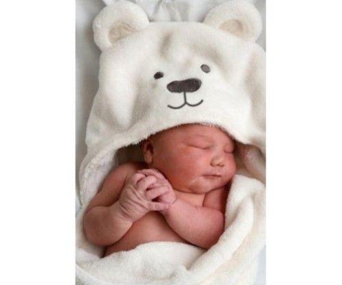 Bébi, újszülött cuki macis fürdőköpeny, törülköző ajándékba, keresztelőre vagy akár saját gyerek részére