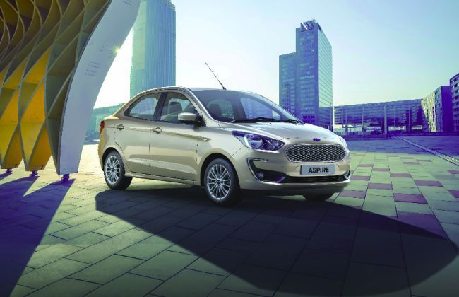 Booking Opens For India Spec 2018 Ford Aspire Facelift Ford