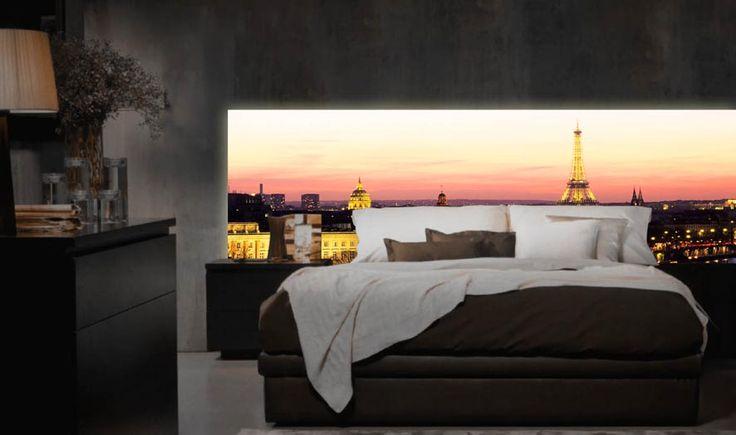 Sengegavl med LED lys modell PARIS.