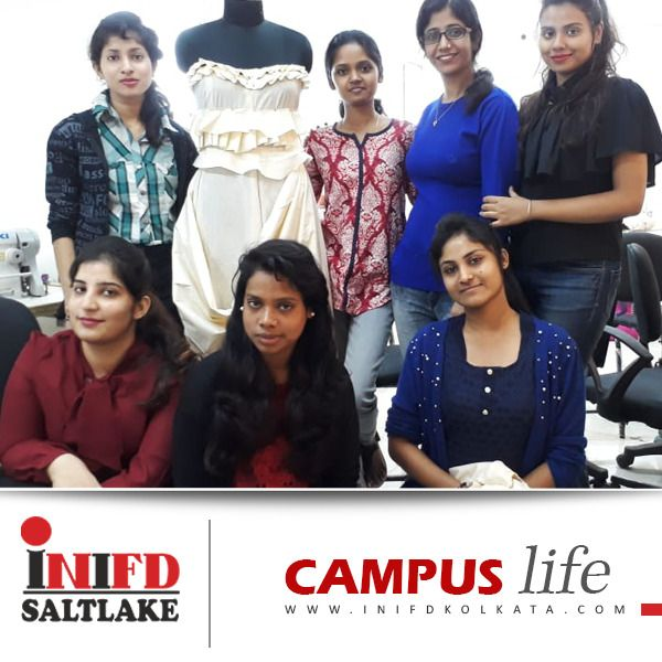 Inifd Saltlake Campus Life Take An Insider S Look Of Draping Pattern Dressmaking Classes Inifdsaltlake Campus Fashion Designing Course Life Campus