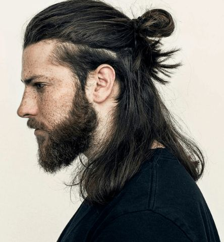 14 Coolest Long Hairstyles for Men + Quick Hair Growth Tips & Styling Guide Mens Hairstyles Widows Peak, Man Bun Hairstyles, Haircuts For Curly Hair, Curly Hair Men, Elegant Hairstyles, Men's Haircuts, Long Hairstyles For Men, Hairstyles 2016, Formal Hairstyles